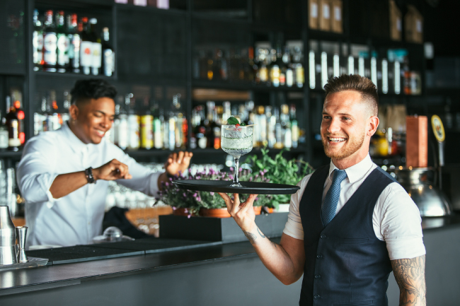 hostels, bars, and restaurants